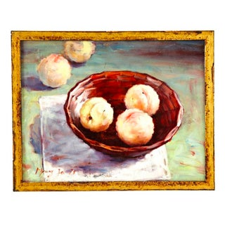 Still Life With Peaches, Framed For Sale