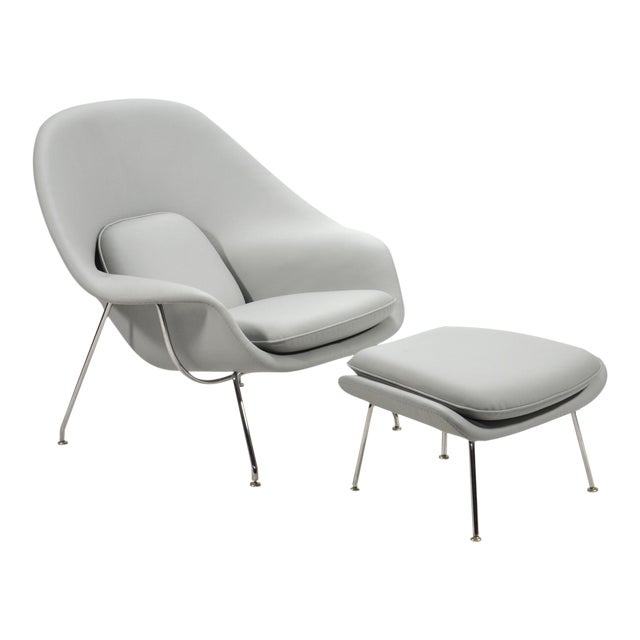 Eero Saarinen Womb Chair and Ottoman in Leather by Knoll - Image 1 of 11