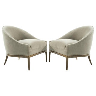 Mid-Century Modern Lounge Chairs in Mohair, 1950s For Sale