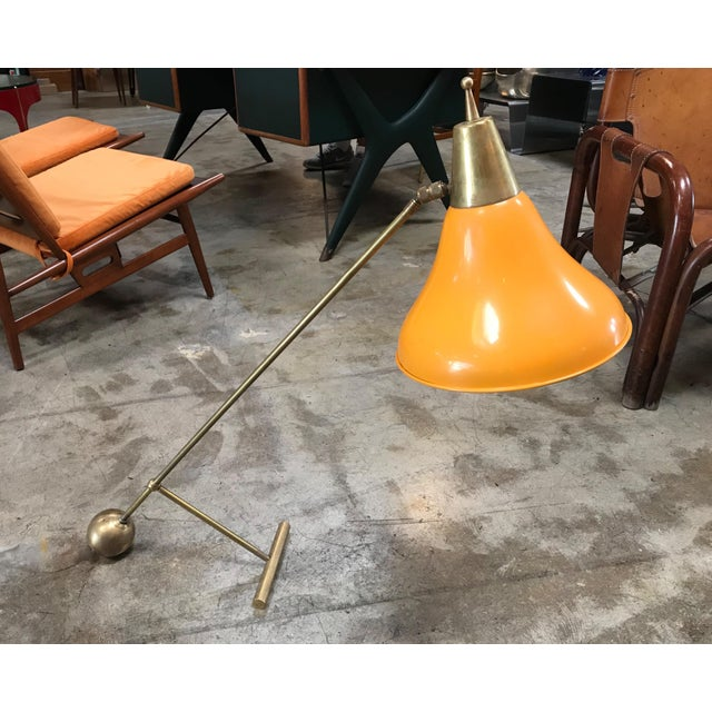 Highly rare and beautiful Stilnovo table lamp in perfect condition. Produced during the 1950s and in perfect original...