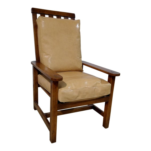 Rose Tarlow High Back Chair in Walnut Finish For Sale