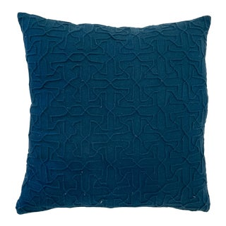Cb2 Blue Woolsely Pillow For Sale