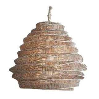 Bamboo Cumulus Cloud Chandelier - Natural For Sale