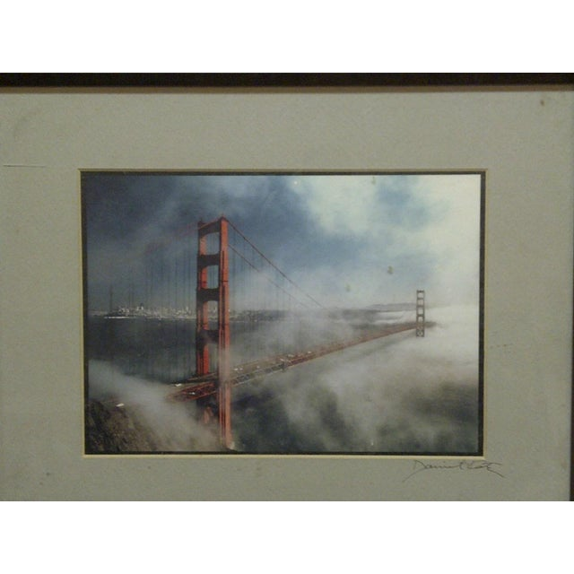 "Wood Framed Color Photograph ""The Golden Gate Bridge"" by Daniel Cole - Image 3 of 6"