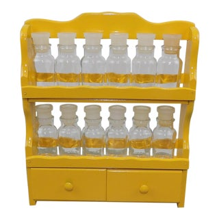 Essential Oil Shelf Vintage Spice Storage Rack