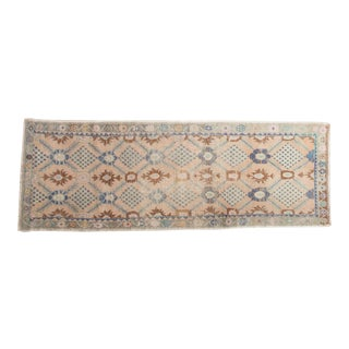 "Vintage Distressed Oushak Rug Runner - 3'5"" x 9'7"""