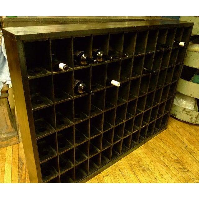 Metal Storage Cabinet of Painted Steel as Wine Rack, Dvd, CD Storage, 72 Cubbies For Sale - Image 7 of 13