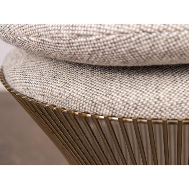 Metal Warren Platner Wire Stool for Knoll For Sale - Image 7 of 10