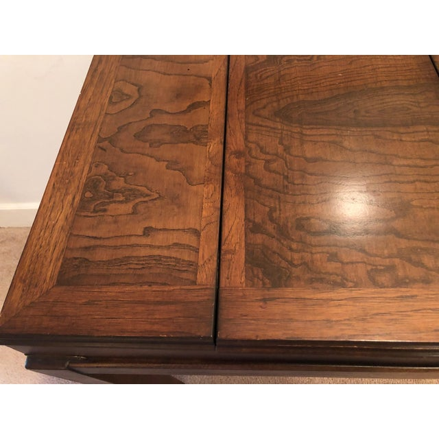 Brown Lane Mid-Century Backgammon Campaign Console Table For Sale - Image 8 of 13