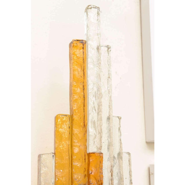 Sculptural Glass Wall Sconce For Sale In Miami - Image 6 of 8