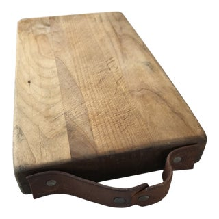 Vintage French Butcher Block Cutting Board For Sale