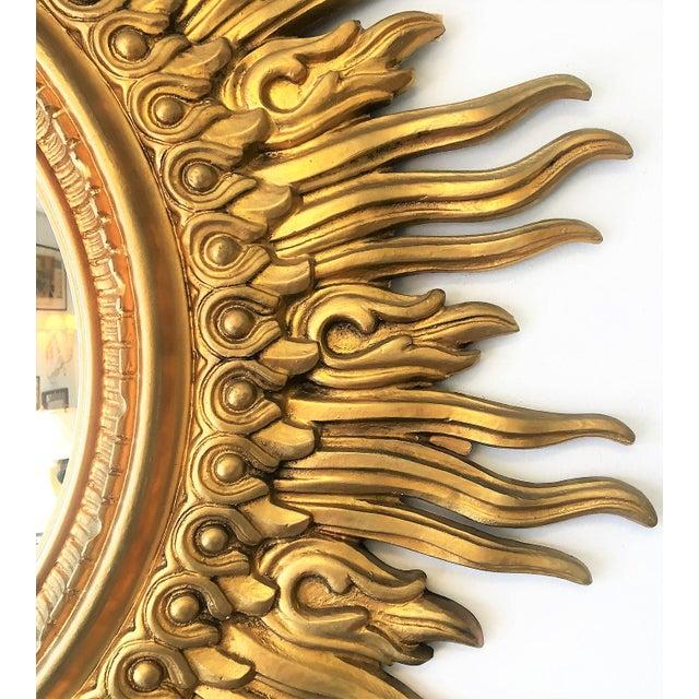 Traditional Vintage Sunburst Mirror For Sale - Image 3 of 4