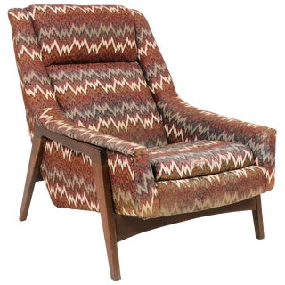 1970s Vintage Adrian Pearsall High Back Lounge Chair For Sale