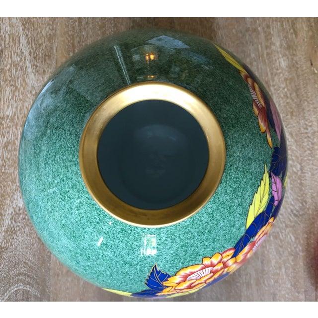 Late 20th Century Vintage Bulbous Oriental Vase For Sale - Image 4 of 8