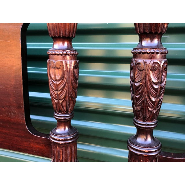 Solid Mahogany Acorn Top Twin Beds- a Pair For Sale - Image 11 of 13
