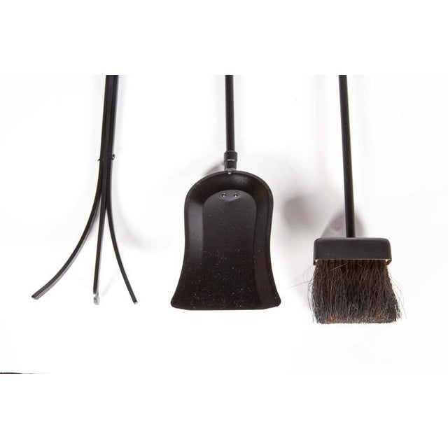 Bennett Co. Mid-Century Modern Wall Mount Fireplace Tool Set by Donald Deskey For Sale - Image 4 of 9