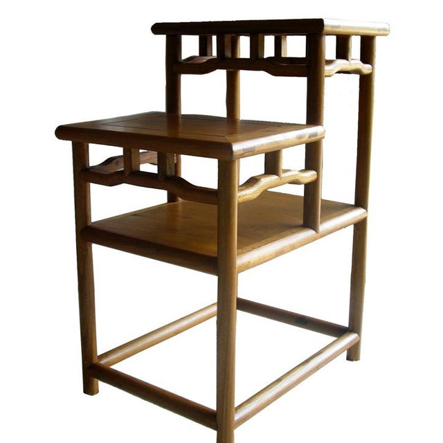 Asian Stacking Accent Tabel Made of Reclaim Wood For Sale - Image 3 of 5