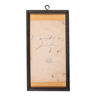 19th Century Antique Framed Drawing For Sale