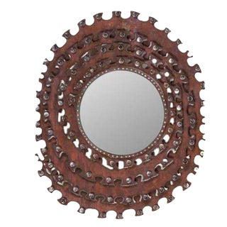Brutalist Style Mirror For Sale