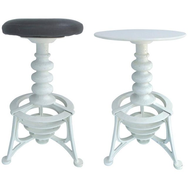 20th Century Industrial Cast Iron Interchangeable Stools to Tables For Sale - Image 10 of 10