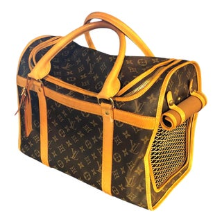 Louis Vuitton Dog Carrier 40 Monogram Canvas Luggage Bag For Sale