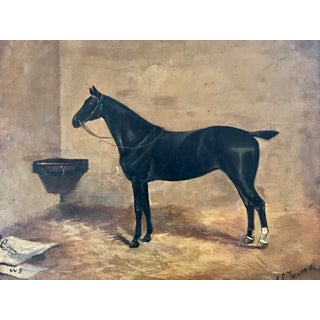 Antique English Oil Painting Portrait of a Horse by John Charles Tunnard C.1890 Preview