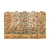 Image of 1860's English Silk Needlepoint Screen For Sale