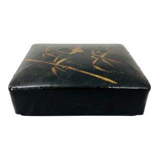 Antique Japanese Lacquerware Box For Sale