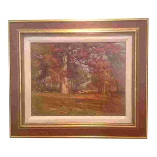 American 19th Cent. Oil by Carlton Wiggins (1848-1932) For Sale