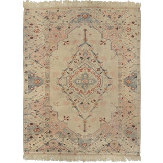 Mansour Fine Handmade Turkish Oushak Rug - 5′ × 6′ For Sale