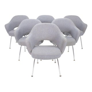 1960s Vintage Eero Saarinen Executive Armchairs by Knoll- Set of 6 For Sale