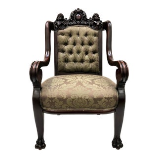 19th Century Antique French Renaissance Throne Armchair For Sale
