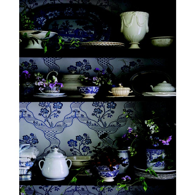An eccentric, wavy trellis pattern, Marella is enlivened by charming botanical motifs. The wallpaper version of this...