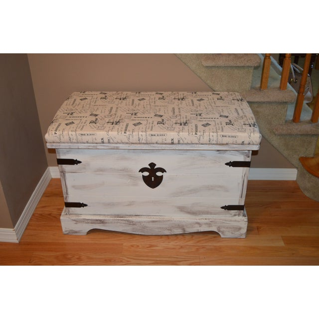 Shabby Chic Style Paris Bench/Trunk - Image 2 of 3