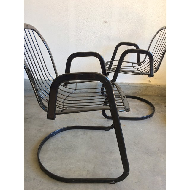 Italian Willy Rizzo Cidue Italian Retro Mod Chairs - A Pair For Sale - Image 3 of 7