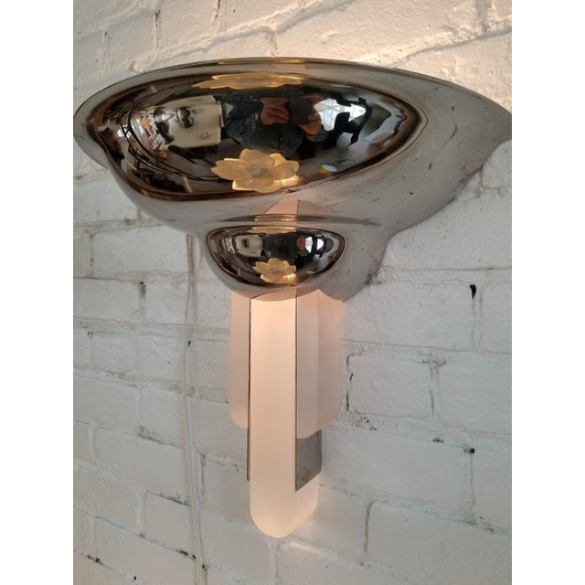Karl Springer Karl Springer Purcell Chrome & Lucite Sconce For Sale - Image 4 of 5
