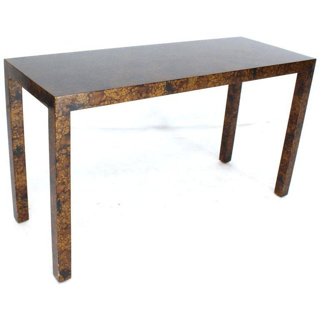 Mid-Century Modern Mid Century Modern Tortoise Lacquer Finish Console Table For Sale - Image 3 of 9