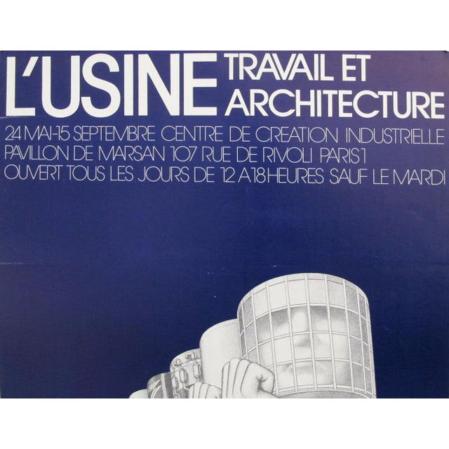 "Date: 1973 Size: 19.75 x 25.5 inches Artist: Castelli This poster was created to promote an exhibition entitled ""L'usine...."