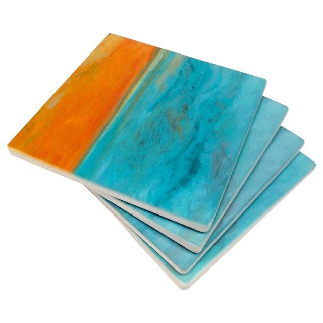 "Ocean Inspired Coasters, ""DayDream"" Sandstone - 4 - Image 1 of 6"