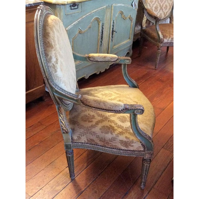 Pair of Louis XVI Fauteuils For Sale - Image 9 of 11