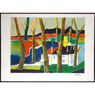 "Rene Couturier ""Coucher Du Soleil"" Signed Artwork Lithograph Unframed Print, France For Sale"