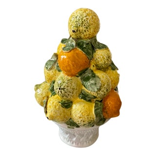 Vintage Fruit Topiary or Fruit Form For Sale