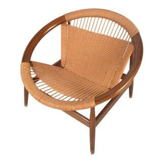 """Danish Modern """"Ringstol"""" Hoop Chair by Illum Wikkelsø For Sale"""