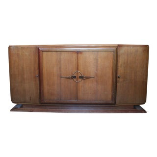 French 1940s Mahogany Veneered Sideboard For Sale