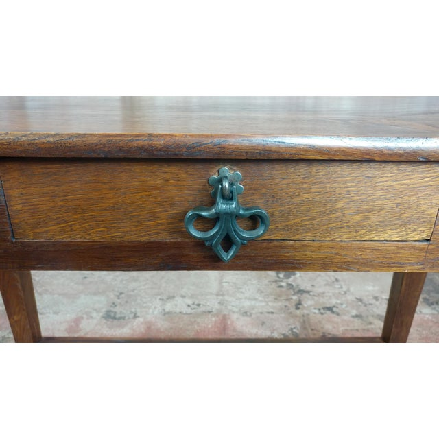 Antique Side table w/two carved Nude Female Figures For Sale - Image 5 of 12