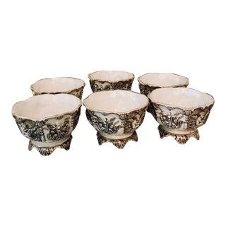 Vintage Capodimonte Bowls - Set of 6 For Sale