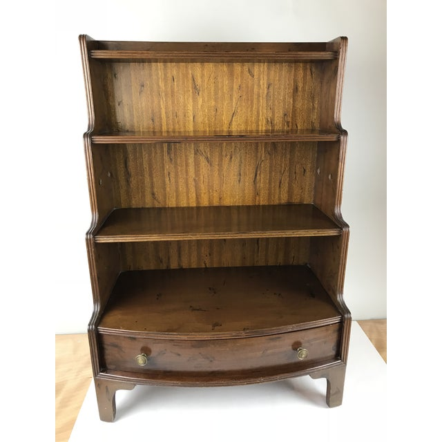 Antique Wood Display Curio Shelf Drawer Cupboard For Sale - Image 13 of 13