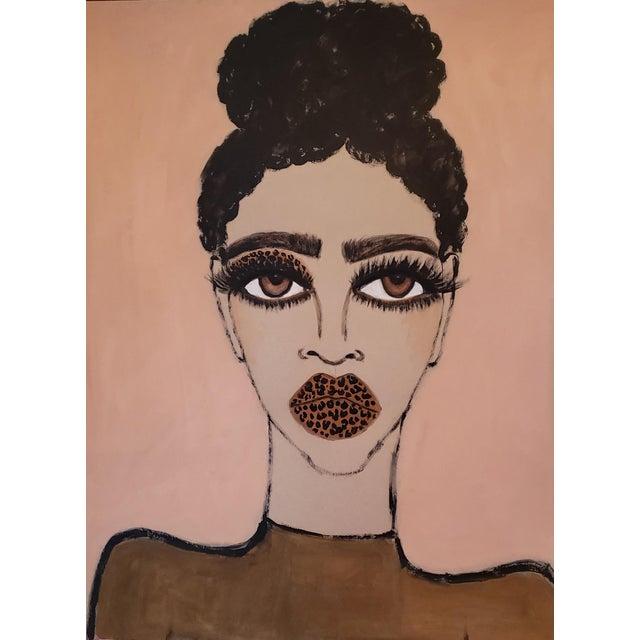 "Original mixed media drawing on 18""x24"" heavyweight toned tan paper."