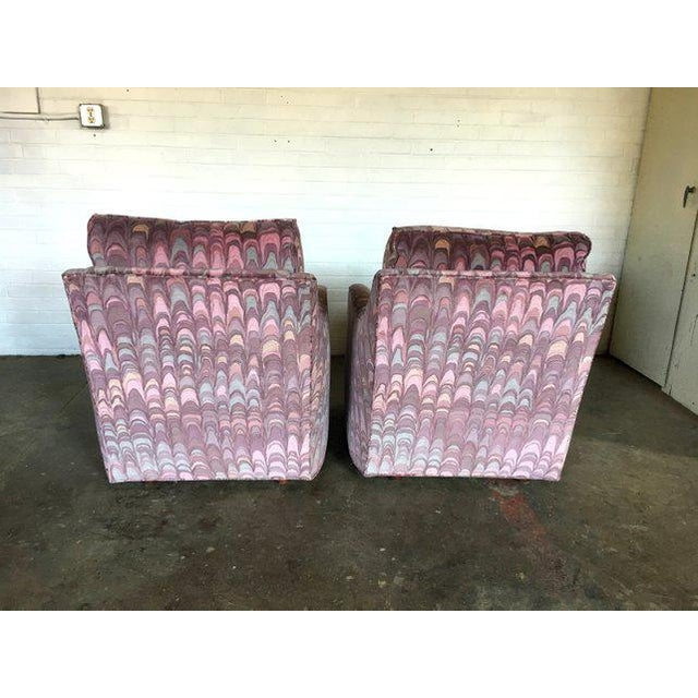 Pearson Clyde Pearson Chairs and Ottomans in Jack Lenor Larsen Fabric - Set of 4 For Sale - Image 4 of 11