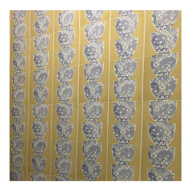 Galbraith & Paul Hand Blocked Stacked Pots Wallpaper - 10 Yards For Sale